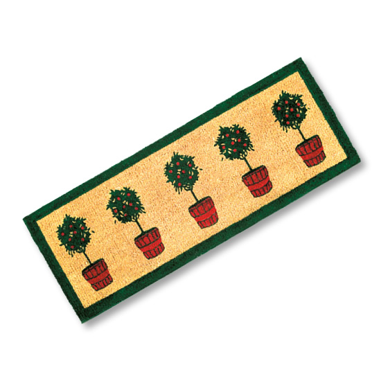 Potted Trees Door Mat