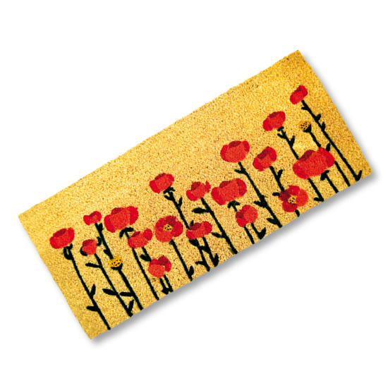 Poppies Door Mat