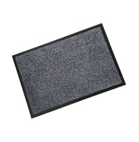 Rubber Border Wash Mats  Rubber Border Cotton Wash Mat - Grey
