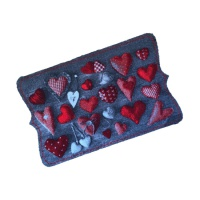 Decorative Wash Mats Decorative Wash Mat - Red Hearts