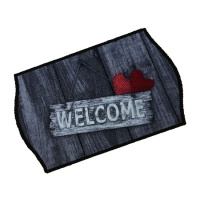 Decorative Wash Mats Decorative Wash Mat - Welcome Red Heart