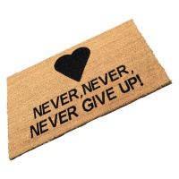 Never, Never, Never Give Up! (Heart Logo)