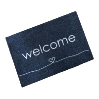 Decorative Wash Mats Decorative Wash Mat - Welcome Heart Anthracite