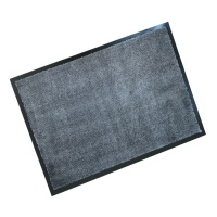Rubber Border Wash Mats  Rubber Border Wash Mat - Soft & Chic Taupe with Light Blue Fleck