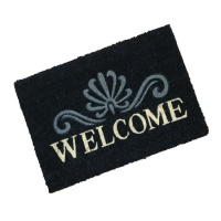 Artisan Doormats  Rustic Welcome Black Coir Doormat