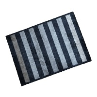 Decorative Wash Mats Decorative Wash Mat - Anthracite Stripe