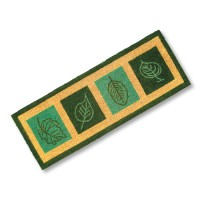 Artisan Doormats Green Leaves Doormat