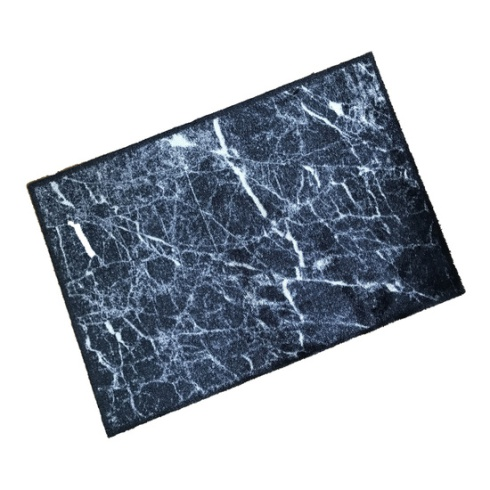 Decorative Wash Mat - Marble Black