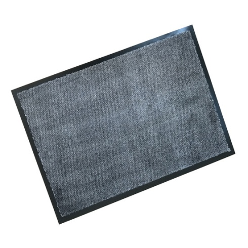 Rubber Border Wash Mat - Soft & Chic Taupe with Light Blue Fleck