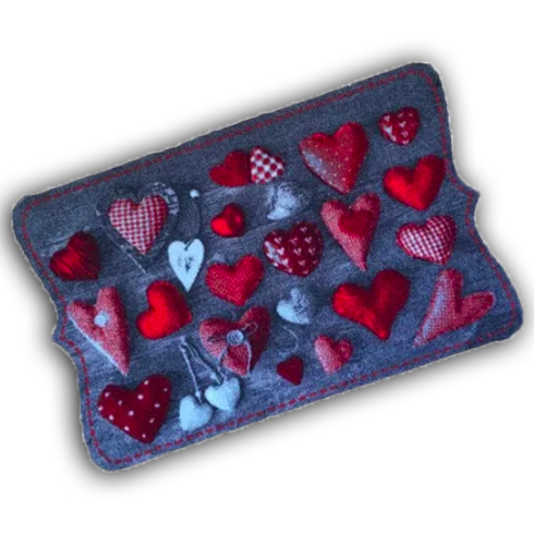 Decorative Wash Mat - Red Hearts