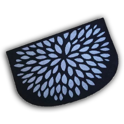 Decorative Wash Mat - Silver Flower