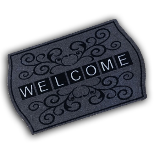 Decorative Wash Mat - Welcome Scroll