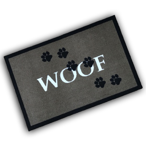 Decorative Wash Mat - Woof Brown
