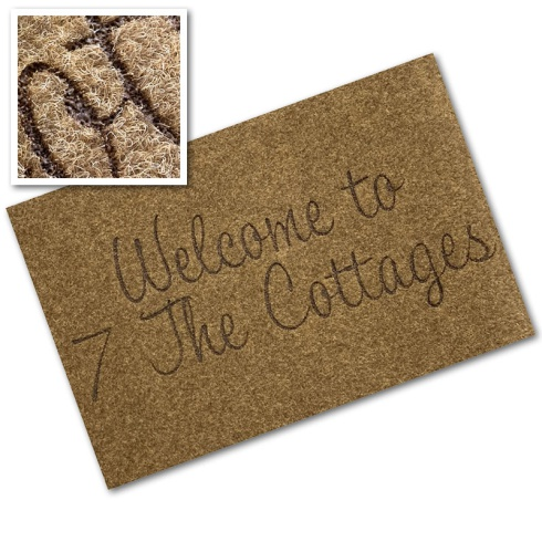 Engraved Synthetic Coir Mat - 'Welcome'