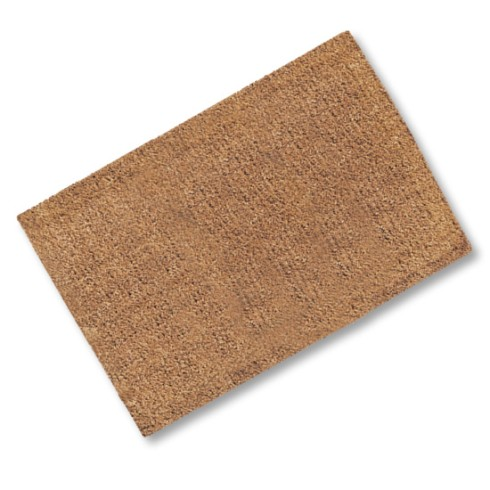 Plain Coir Stitched Edge Door Mat 900mm X 600mm