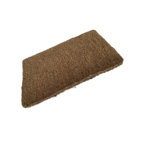 Economy Plain Coir Stitched Edge Doormat - 600mm x 350mm