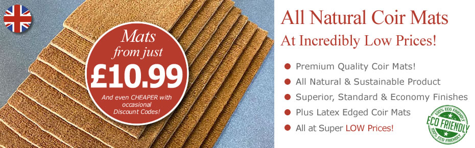 Coir Doormats from as little as £8.79!