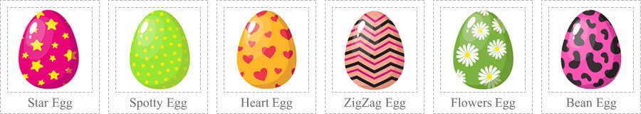 Here are the eggs you are looking for hidden on the DoorMats4You website!