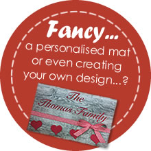 Fancy a personalised mat?