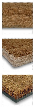 Stitched Edge, Latex Edge & PVC Backed Coir Mats