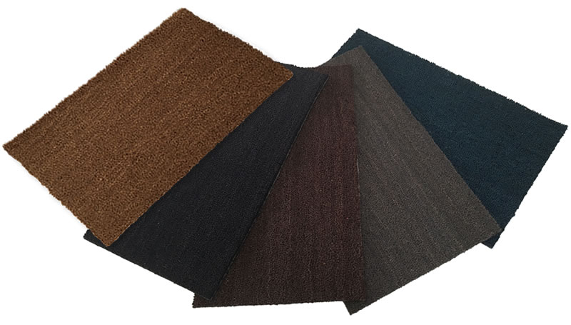 PVC Backed Coir Mat Colours