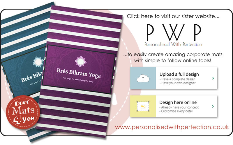 Link to our sister website, Personalised with Perfection to create your Corporate & Business Mats