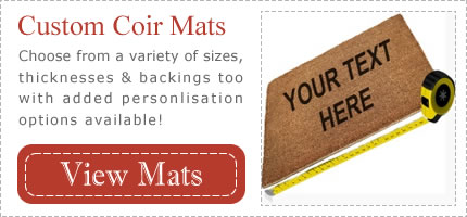 Custom Sized Personalised Coir Mats