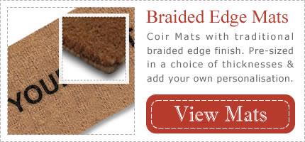 Braided Edge Personalised Door Mats