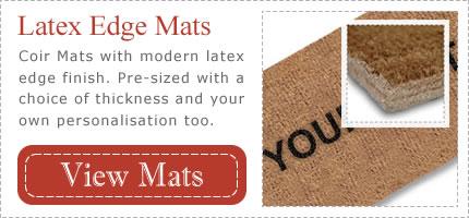 Latex Bonded Personalised Coir Mats