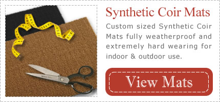 Cutom Sized Weatherproof Synthetic Coir Mats